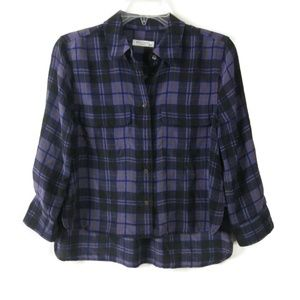 Womens EQUIPMENT FEMME Plaid XS Button Down Shirt